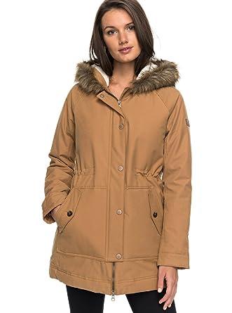 Roxy canción de montaña de las mujeres chaqueta - ERJJK03195-CMK0-S, Marrón