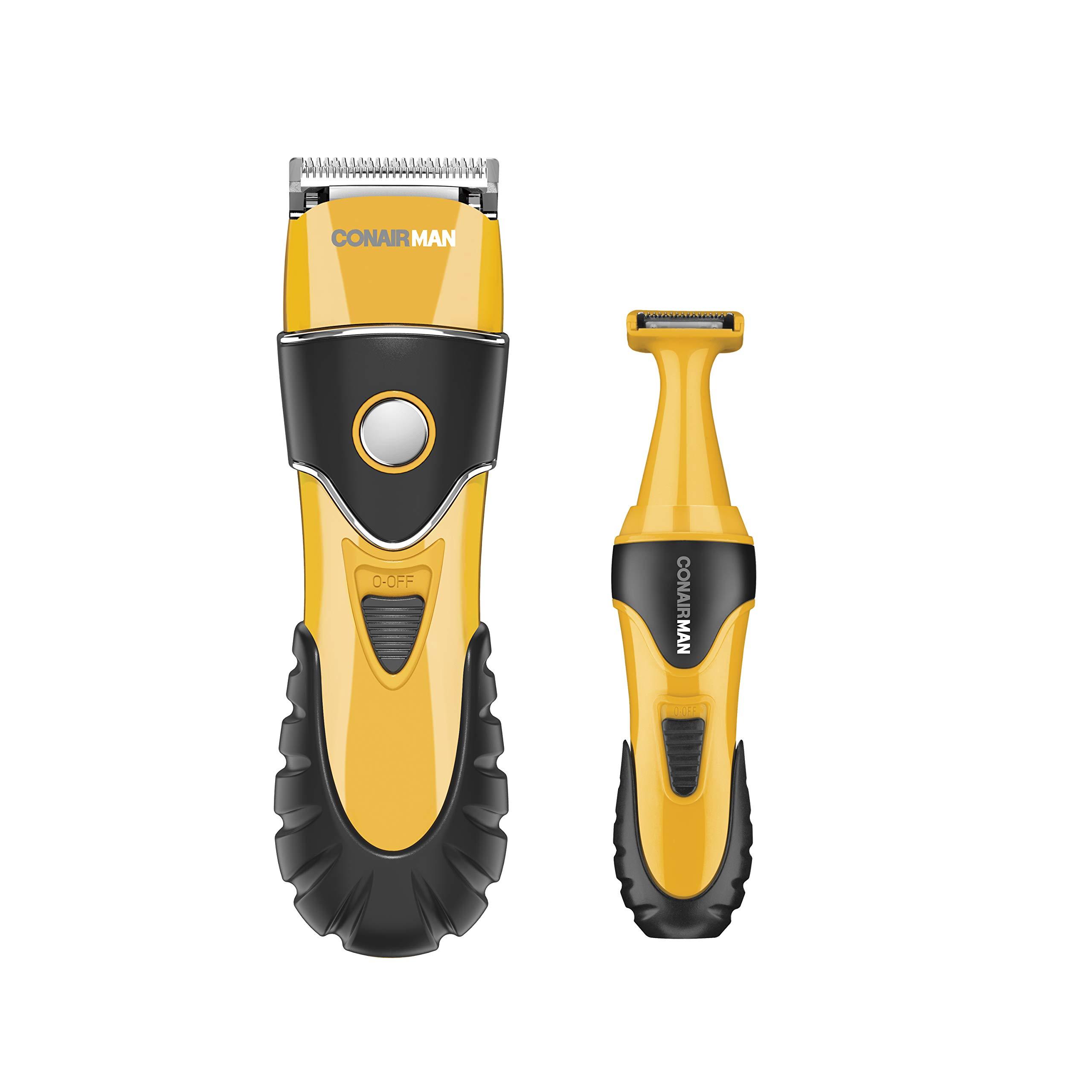 Conairman No-Slip Grip 20Piece Haircut Kit & Grooming Kit; Home Hair Cutting Kit, Trimmer, Body Groomer by Conair