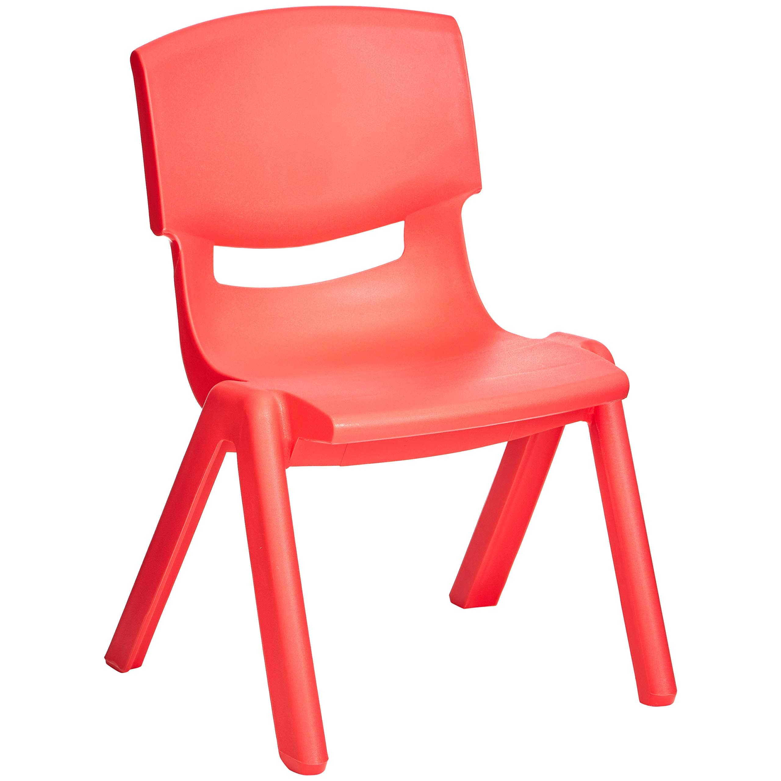 Amazonbasics 10'' School Stack Resin Chair,Red, 6 Pack