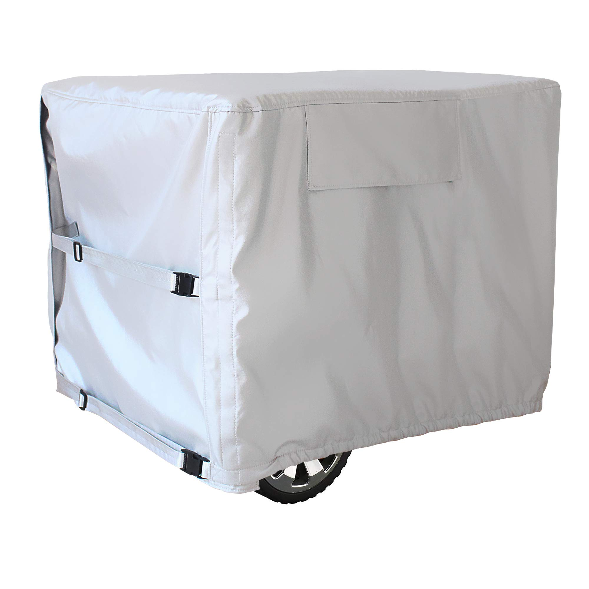 Mr.You 100% Waterproof Durable Universal Generator Cover-Heavy Duty Resistant Storage Cover,Fits Generators up to 28x38x30 inch,Sliver 5 Years Warranty