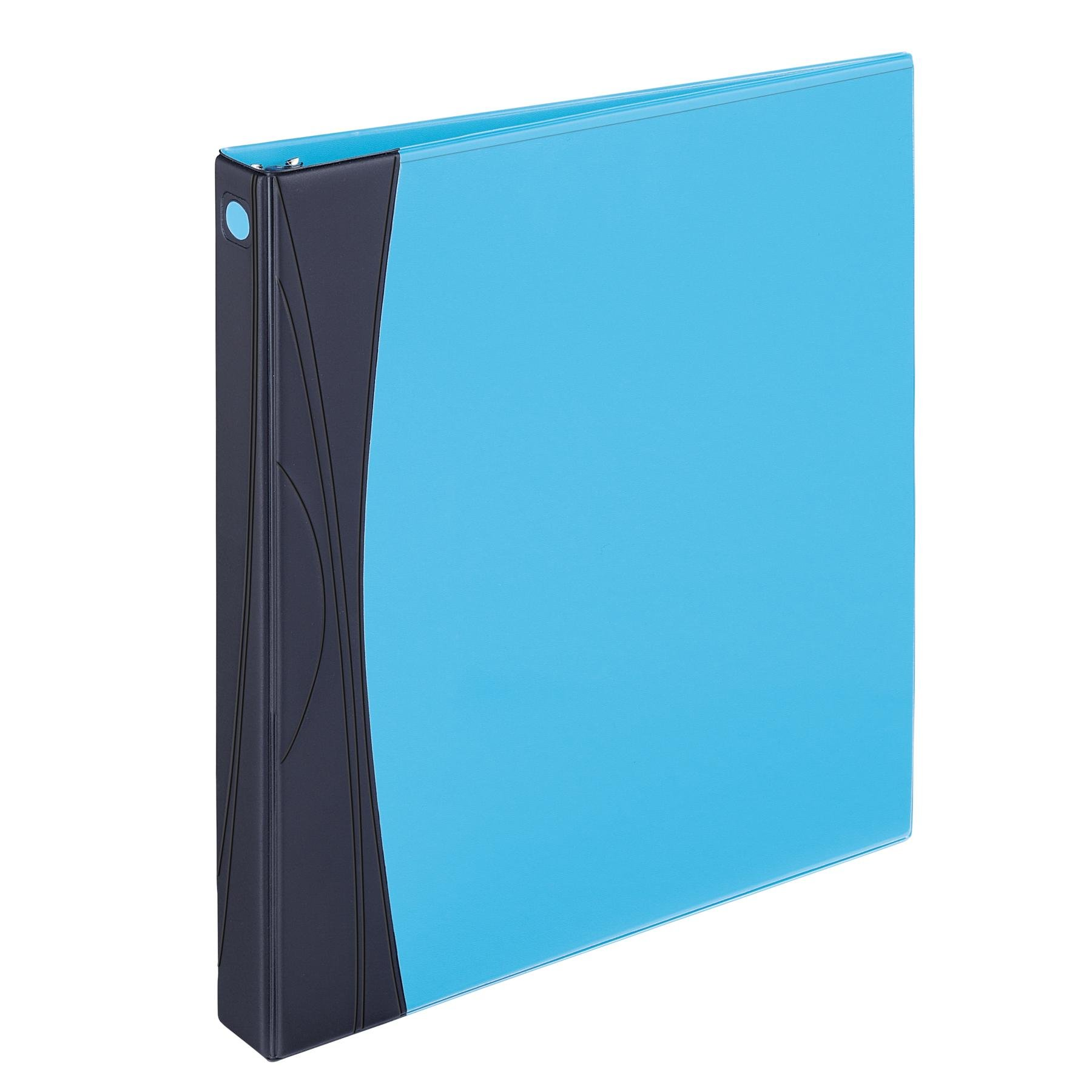 Avery Comfort Touch Durable View Binder with 1-Inch Slant Ring, Holds 8.5 x 11-Inch Paper, Aqua with Black Spine, 1 Binder (17408)