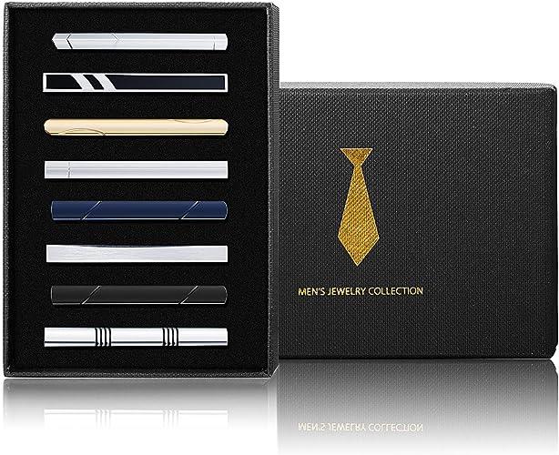 Besteel 8 Piezas Clips de Corbata para Hombres Clip de Corbata ...