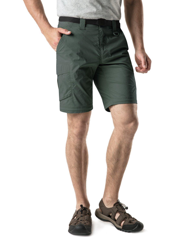 CQR CQ-TXP402-GRN_32W/30L Men's Convertible Pants Zipp Off Stretch Durable UPF 50+ Quick Dry Cargo Shorts Trousers TXP402 by CQR (Image #4)