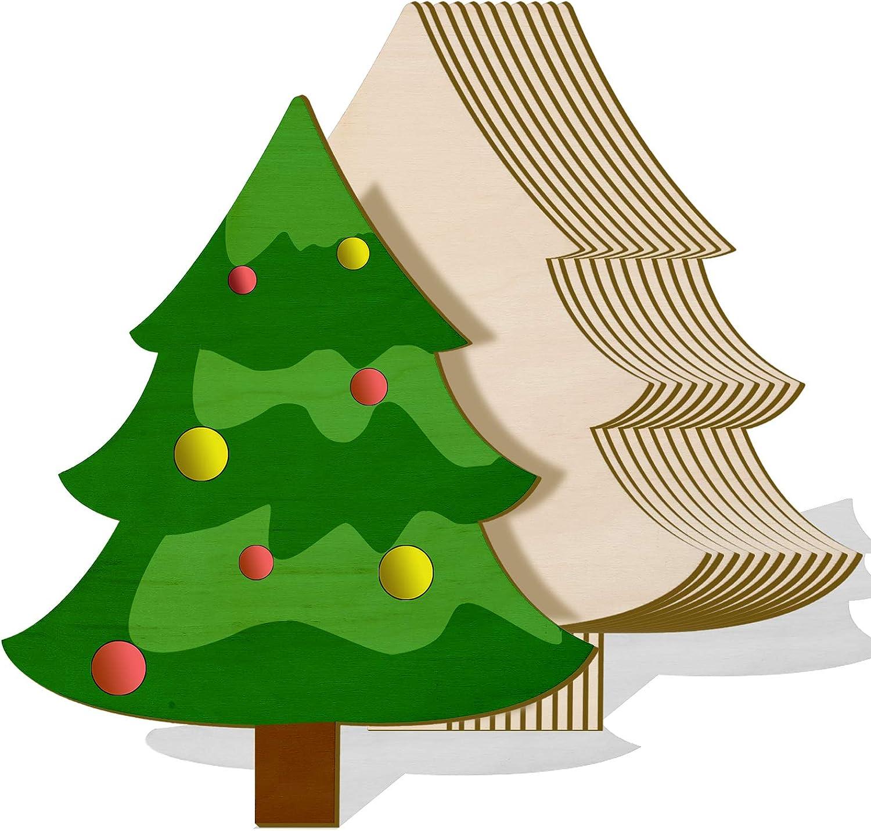 WOOD CHRISTMAS ROUND SHAPE LETTER DESIGN XMAS TREE PENDANT HOME ROOM DECOR GIFT