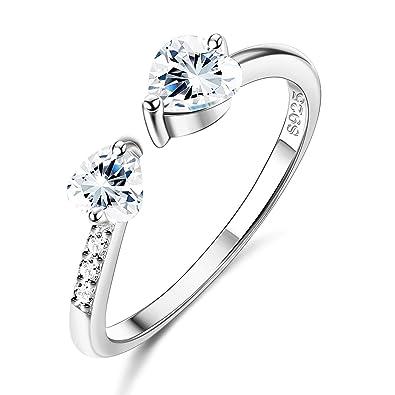 anello infinito  argento 925  BIANCO regolabile qualsiasi misura infinito amore