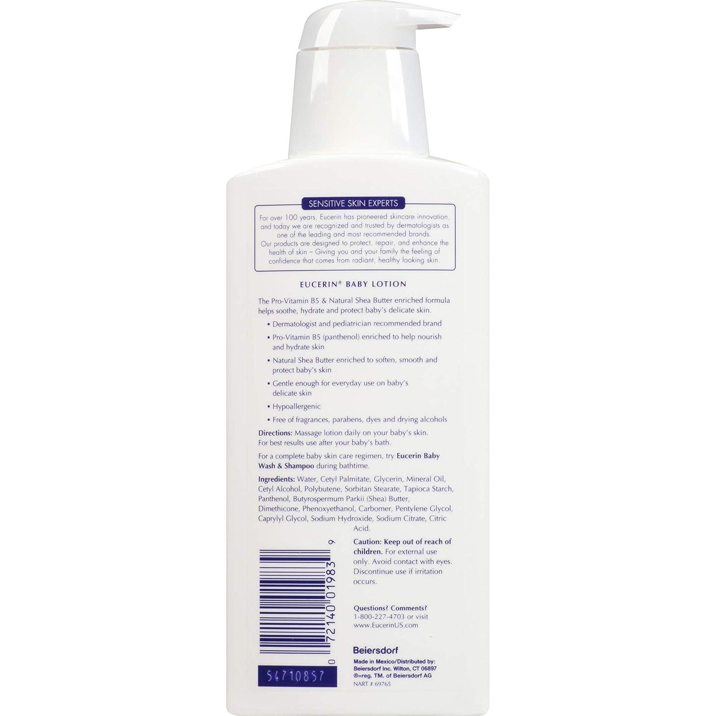 Eucerin Baby Body Lotion - Hypoallergenic & Fragrance Free, Safe for Everyday Use on Sensitive Skin - 13.5 fl. oz. Pump Bottle