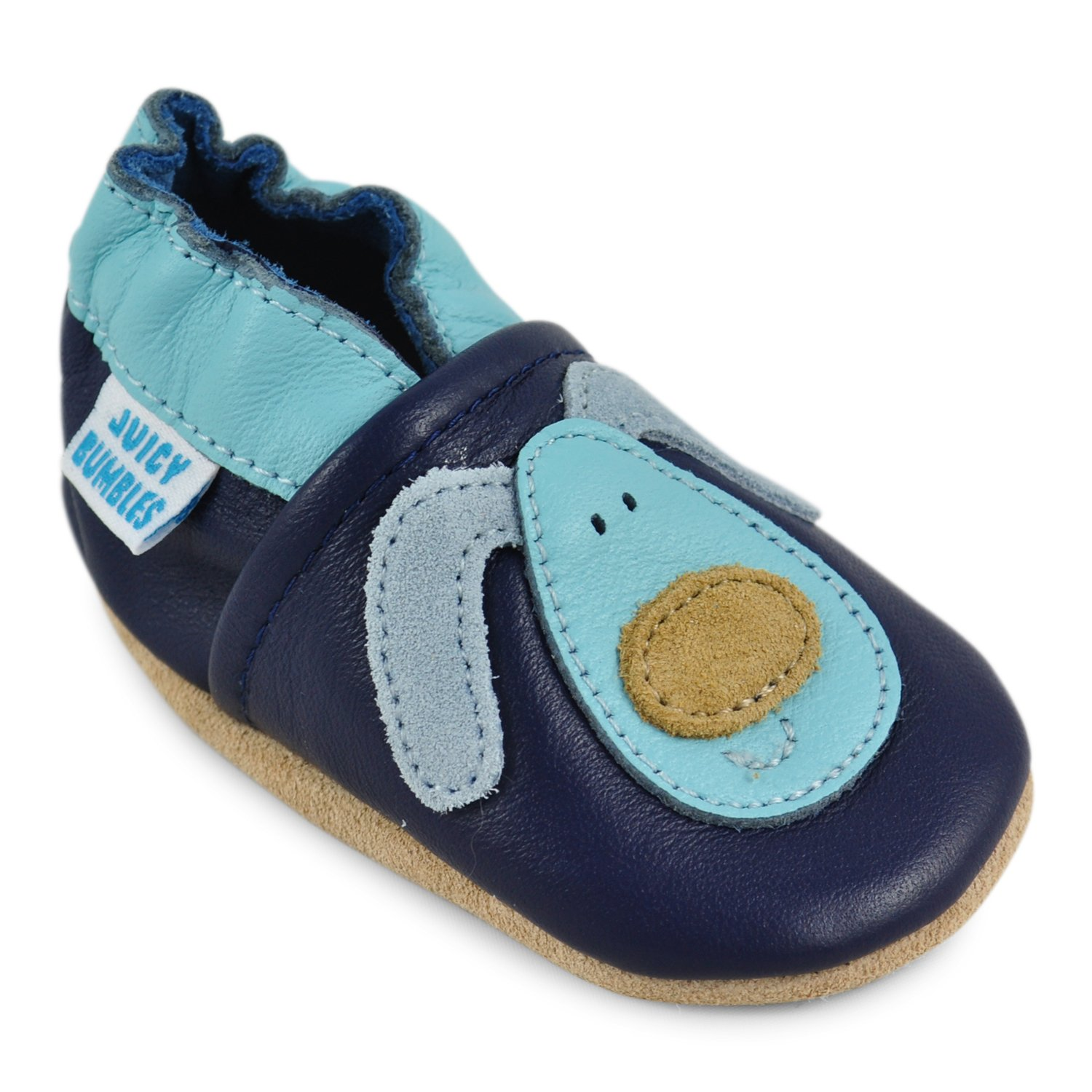 Soft Leather Baby Boy Shoes - Baby Shoes with Suede Soles - Dog 12-18 Months