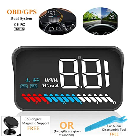 Amazon.com: ACECAR Car Universal Dual System HUD Head Up ...