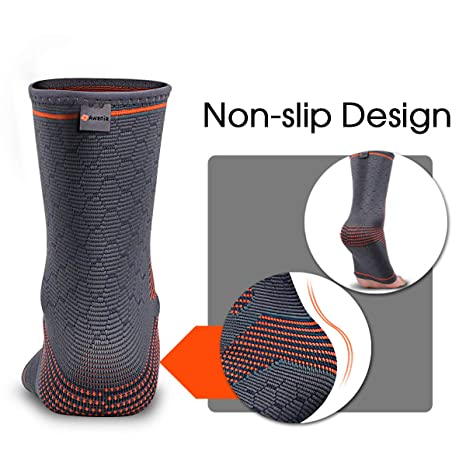 Amazon.com: Awenia Ankle Brace, Ankle Compression Sleeve Plantar Fasciitis Socks for Men & Women Pain Relief from Plantar Fasciitis, Achilles Tendonitis, ...