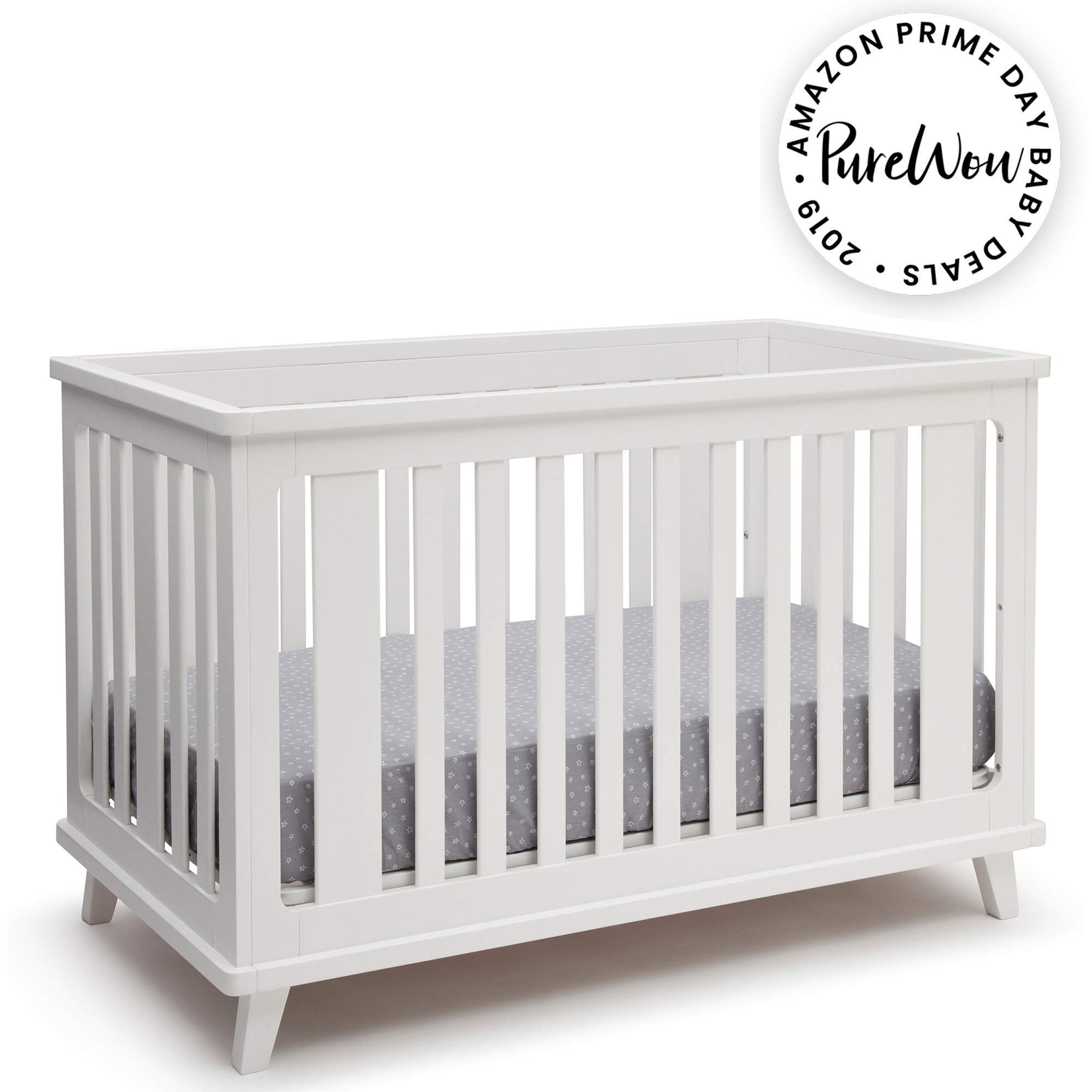 Delta Children Ava 3-in-1 Convertible Baby Crib, White by Delta Children