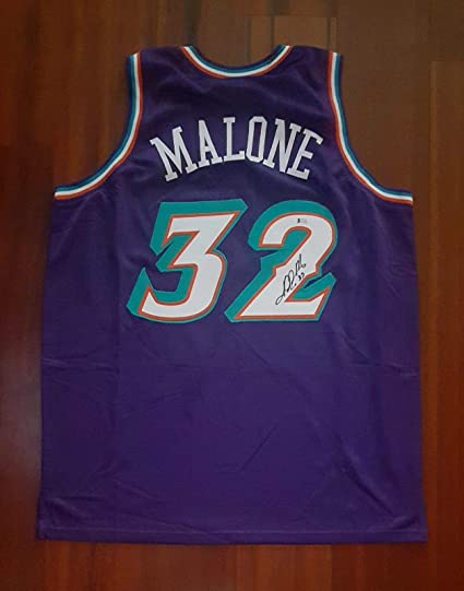 7d92347f5 Image Unavailable. Image not available for. Color  Karl Malone Signed  Autographed Jersey Utah Jazz Beckett