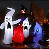 West Bay Halloween Inflatable Decorations,6.6Ft (Length) x6Ft (Height) Ghosts Family Telling Scary Stories with Led for…