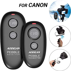 AODELAN Camera Remote Control Wireless & Wired Shutter Release for Canon EOS R,T3,T5,T6,T6i,T7,T7i,80D,6D Mark II,5D Mark III/IV Digital SLR Cameras