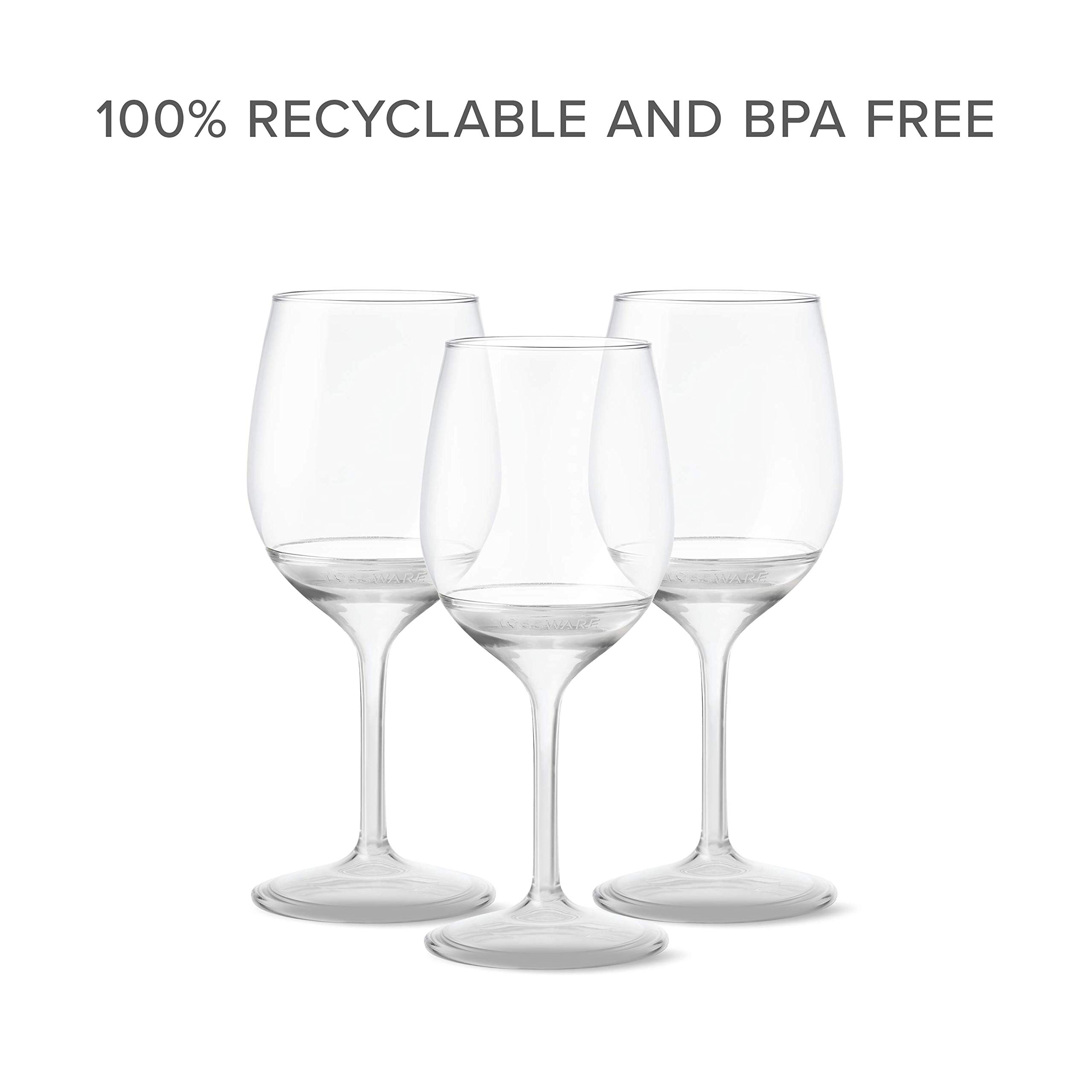 TOSSWARE 14oz Stemmed Vino- recyclable wine plastic cup -SET OF 12- detachable stem, shatterproof, and BPA-free wine glasses by TOSSWARE (Image #6)
