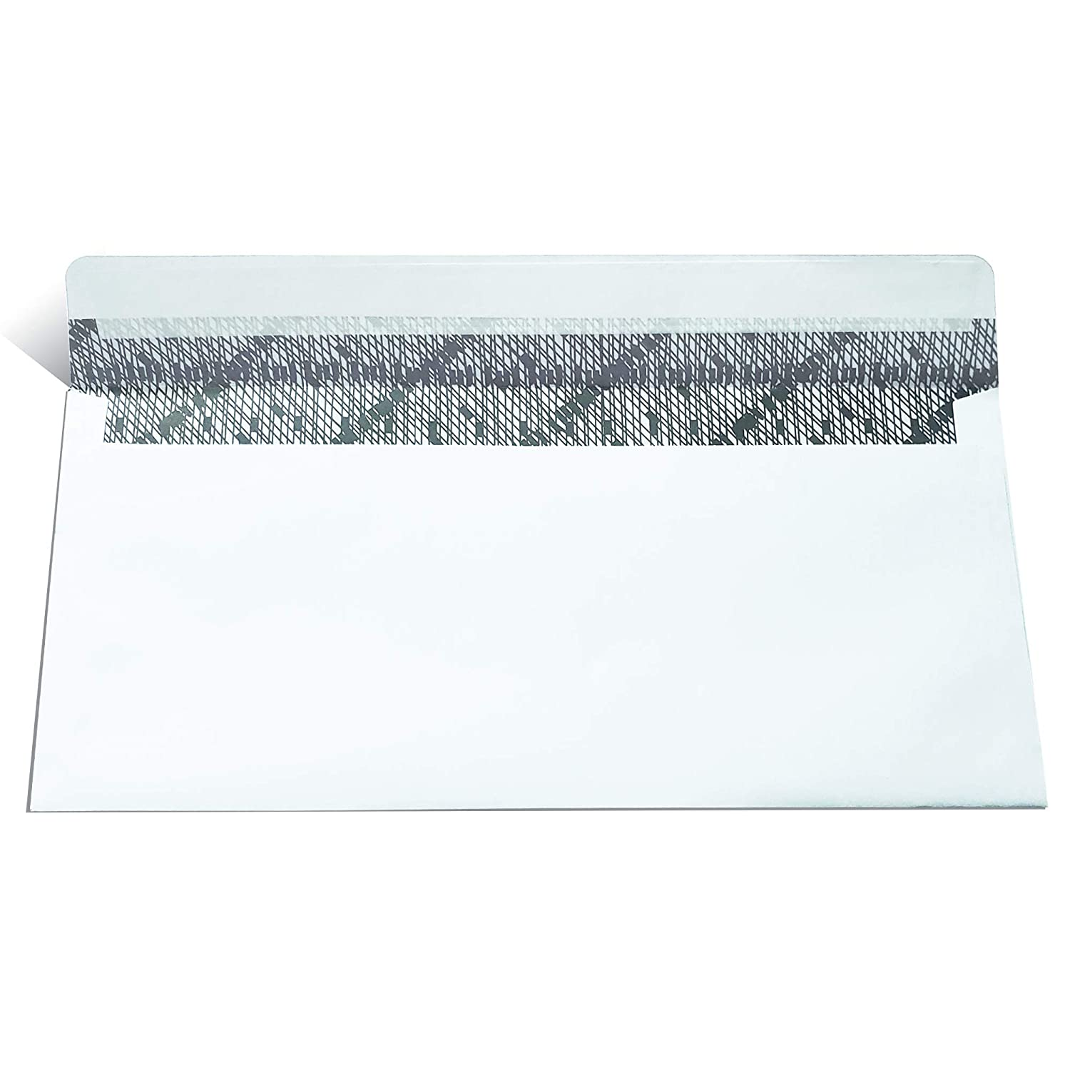 NO #10 Security SELF Seal Business Envelope No Window New Premium Black Security Tint Ideal for Home Office Secure Mailing Peel /& Seal Closure 100 Per Box 24 LB 4-1//8 x 9-1//2 Inches White