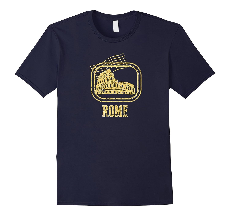 Rome Italy Colosseum Vintage Style Souvenir T-shirt 2-PL