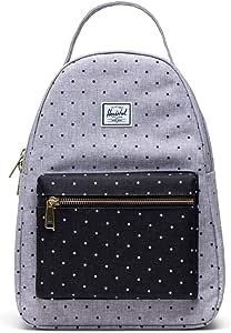 Herschel Supply Co. Nova Small Polka Dot Crosshatch Grey/Black One Size
