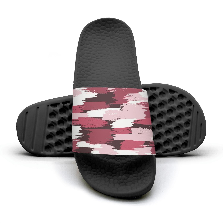 Ether Dobbin Unisex pink camo digital Anti-Slip Slippers Athletic Slide Sandals