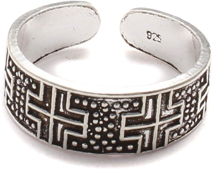 Kreuz Zehenring echt Silber, 925 Silber Zehring Männer