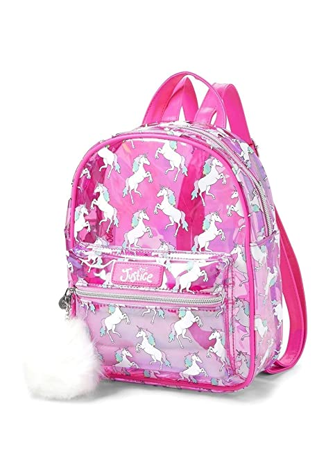 Image Unavailable. Image not available for. Color  Justice Transparent  Unicorn Mini Backpack d08ee2482ad62