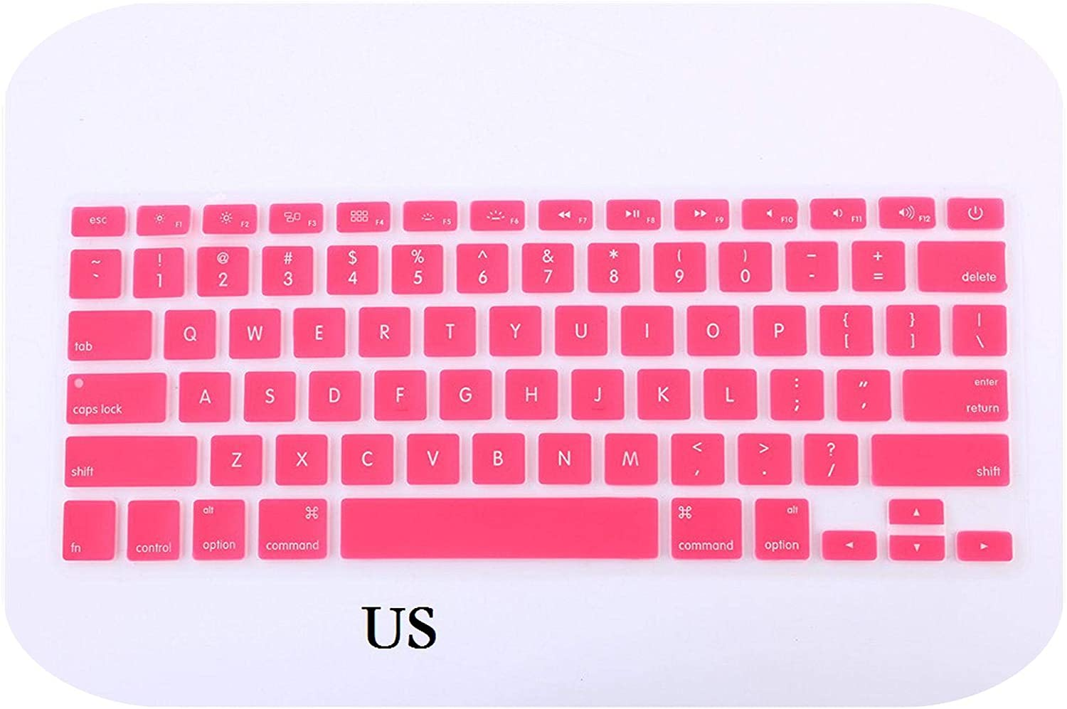 EU//US Silicon for MacBook Pro 13 15 CD ROM Keyboard Cover Silicon English for MacBook Pro 13 15 Keyboard Cover-US Red