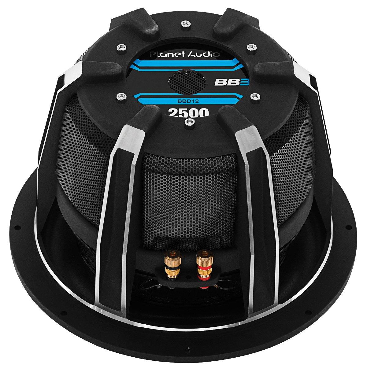 Amazon.com: Planet Audio BBD12 2500 Watt, 12 Inch, Dual 4 Ohm Voice ...