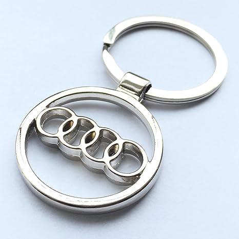 Llavero cromado con diseño de Audi de iTech: Amazon.es ...