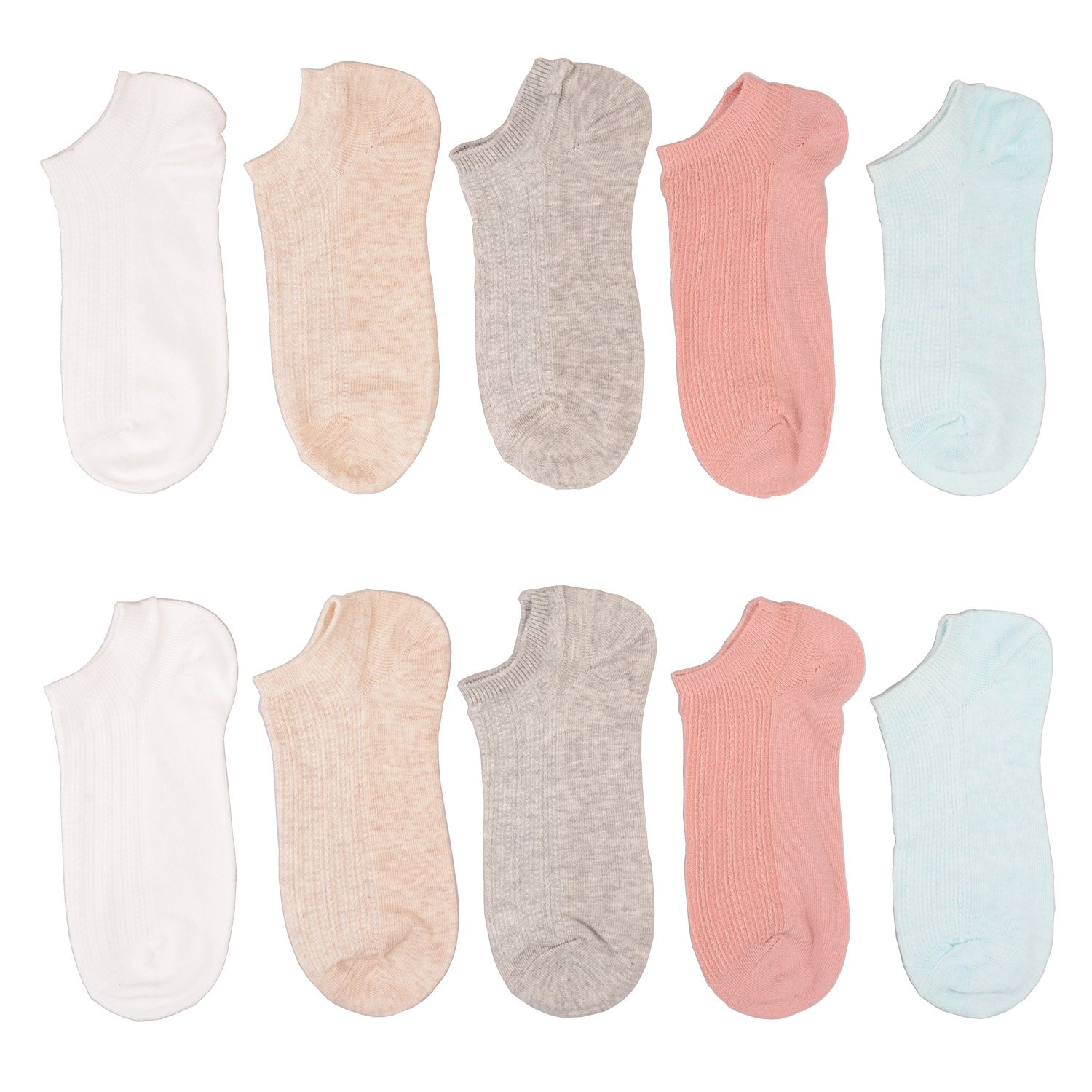 Tandi Kids Girls Cotton Low Cut No Show Socks 5 Pairs Pack (8-11 Years/Little Kid 12M-2/18cm-20cm, low-cut)