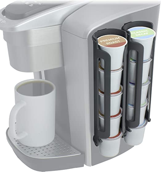 Soporte para 36 c/ápsulas de cafetera y caj/ón de almacenamiento