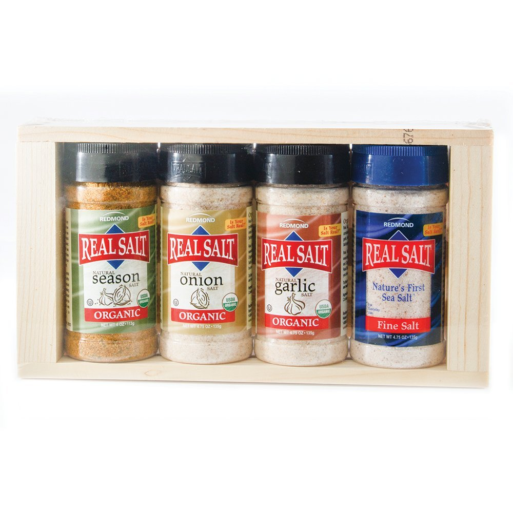 Redmond Real Sea Salt - Natural Unrefined Organic Gluten Free, Seasoning Set (1 Pack)