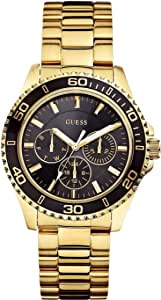 Guess BFF Women's Black Dial Stainless Steel Band Watch - W0231L3