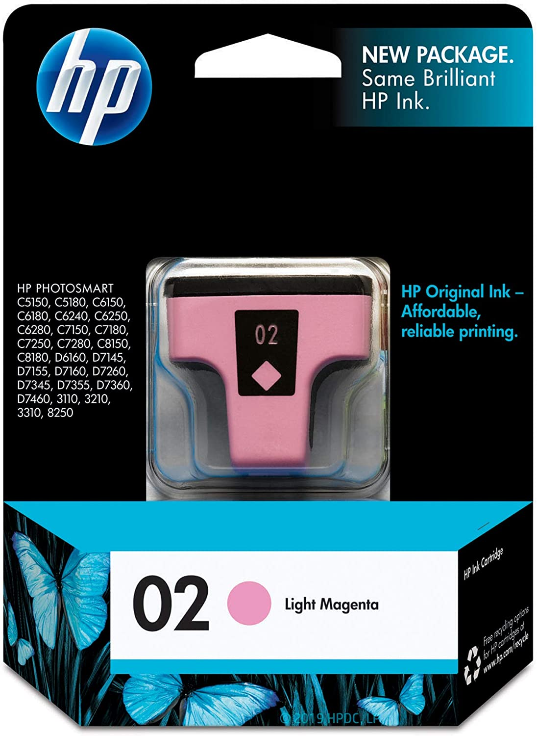 HP 02 | Ink Cartridge | Lite Magenta | C8775WN
