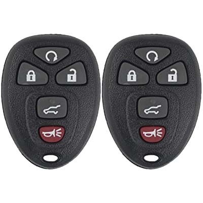 Keyless2Go Keyless Entry Car Key Replacement for Vehicles That Use 5 Button 15913415 OUC60270 OUC60221, Self-programming - 2 Pack: Automotive