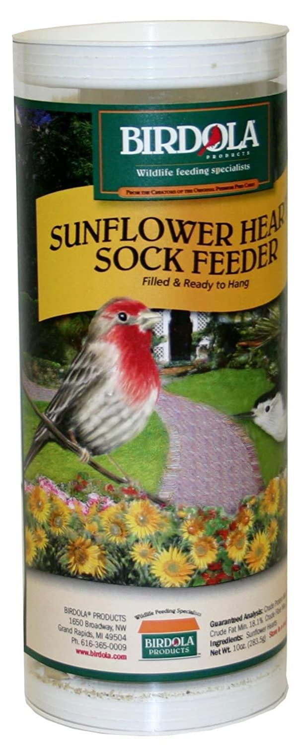 Birdola 54340 10-Ounce Sunflower Heart Sock Bird Feeder Birdola Products 233187