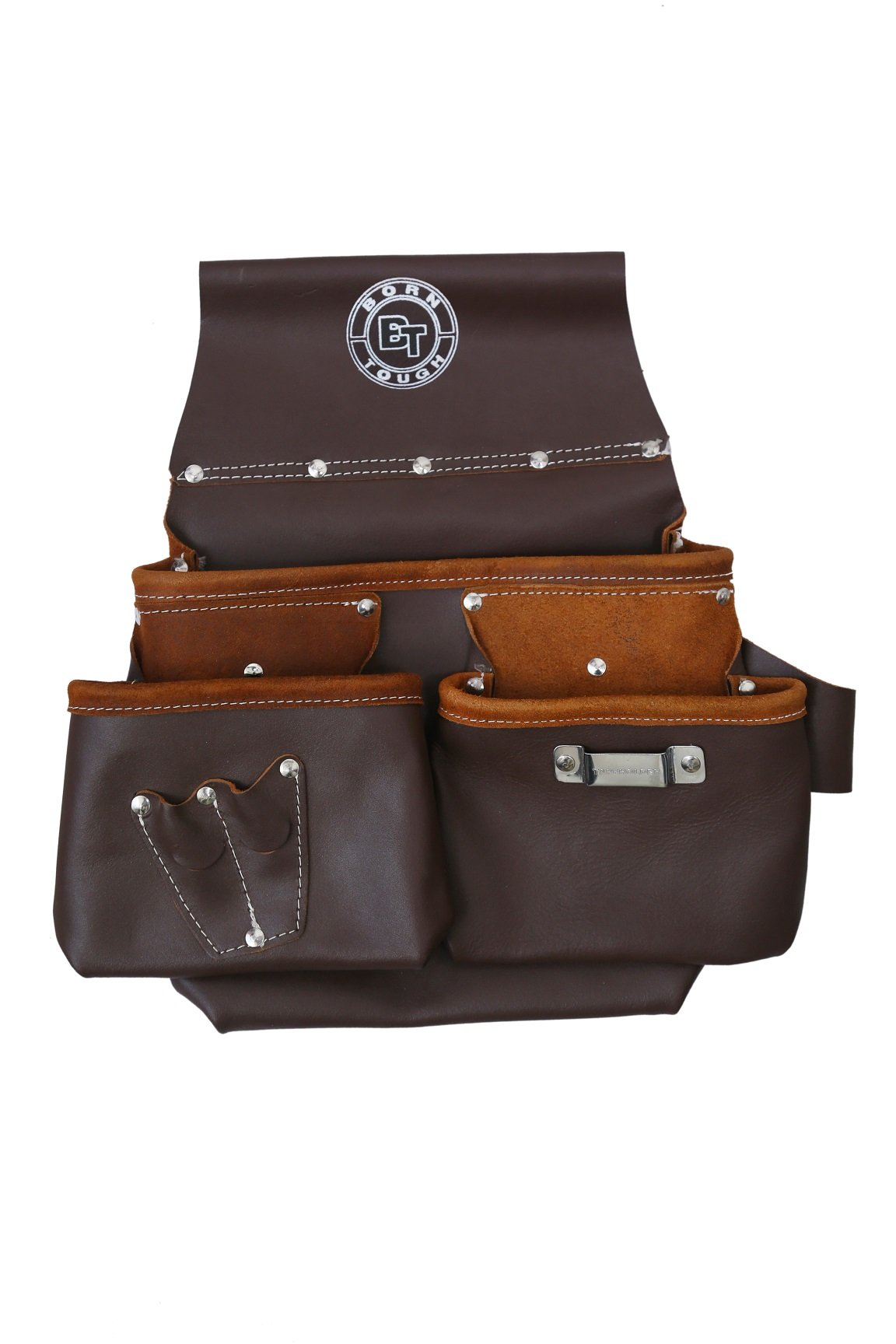 Multi Pocket Oil Tanned Leather Nail & Tool Pouch Bag