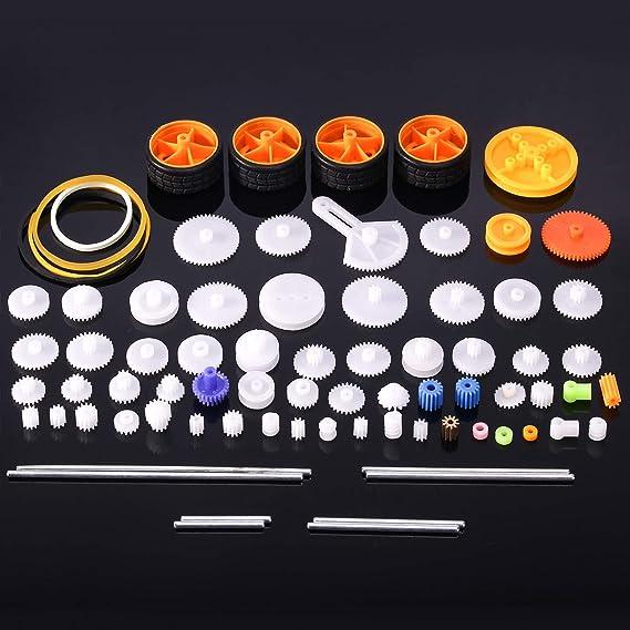 Amazon com: 78 Pcs Plastic Gear Set Package Toy car Accessories