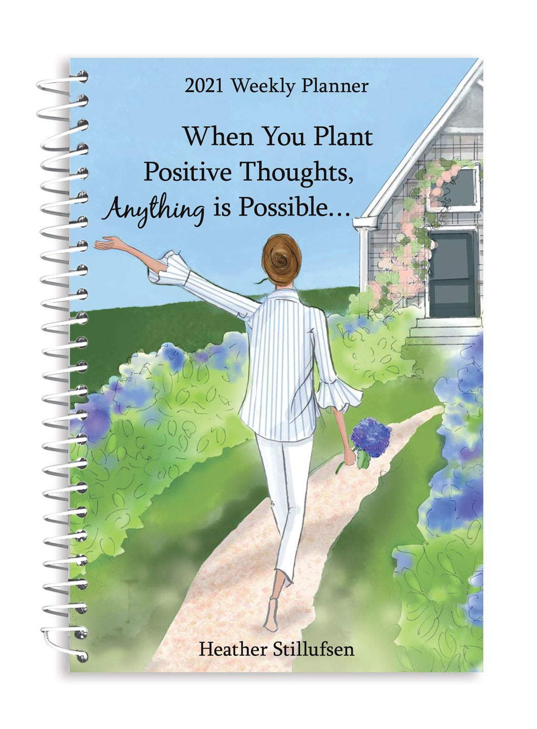 """Image for Blue Mountain Arts 2021 Weekly & Monthly Planner """"When You Plant Positive Thoughts, Anything Is Possible..."""" 8 x 6 in. Spiral-Bound Date Book for Her, by Heather Stillufsen"""