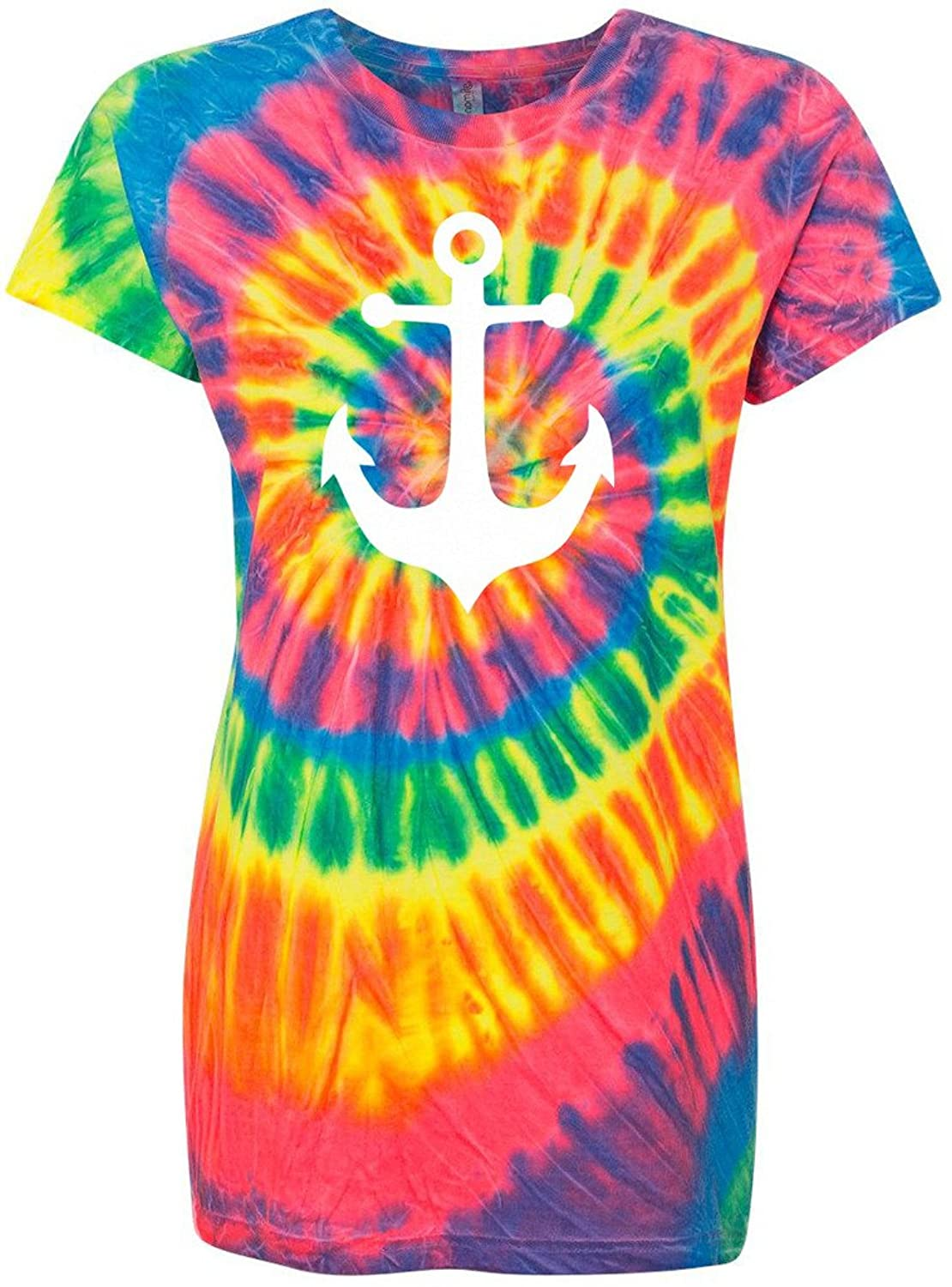 Yoga Clothing For You Ladies Anchor Tie Dye Tee Shirt