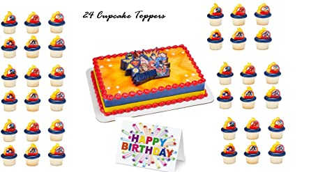 Image Unavailable Not Available For Color JUSTICE LEAGUE MARVEL HEROES Cake Topper