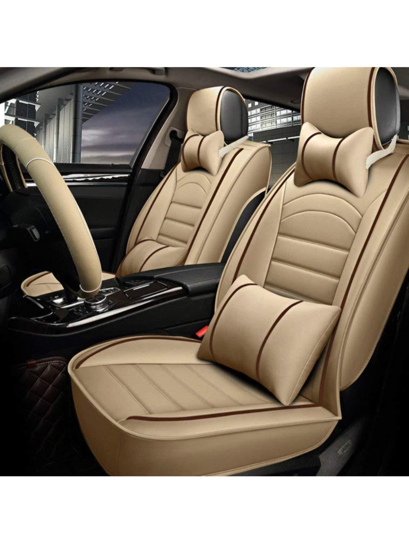 Superb Pegasuspremium Pu Leather Car Seat Cover For Honda Wrv Beige Red Creativecarmelina Interior Chair Design Creativecarmelinacom