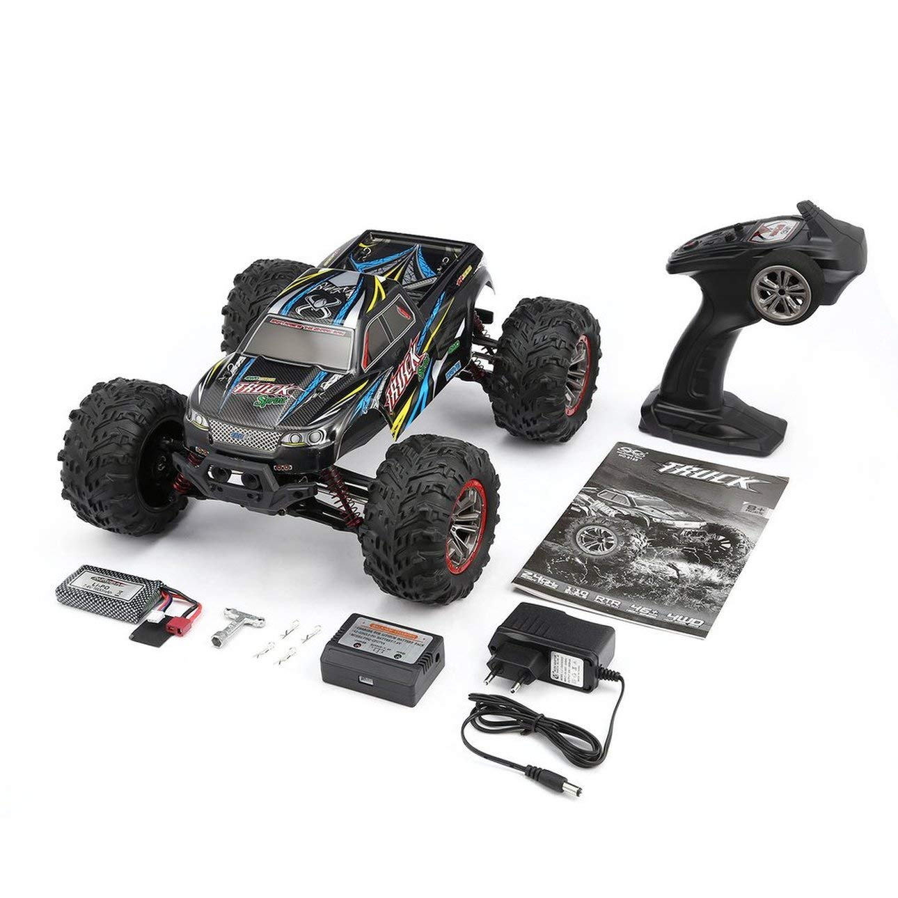 Liobaba 9125 4WD 1/10 High Speed 46km/h Electric Supersonic Truck Off-Road Vehicle Buggy RC Racing Car Electronic Toy RTR