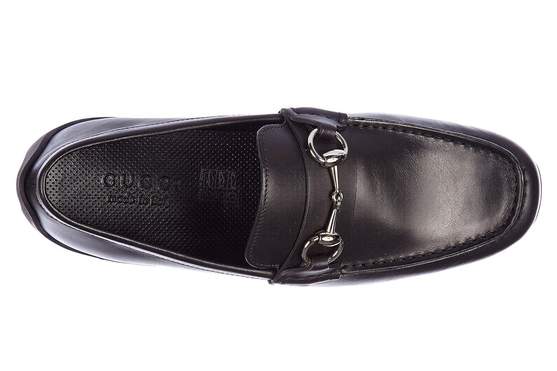Gucci Mocasines en Piel Hombres Ares Negro EU 39 295314 BHP00 1000: Amazon.es: Zapatos y complementos