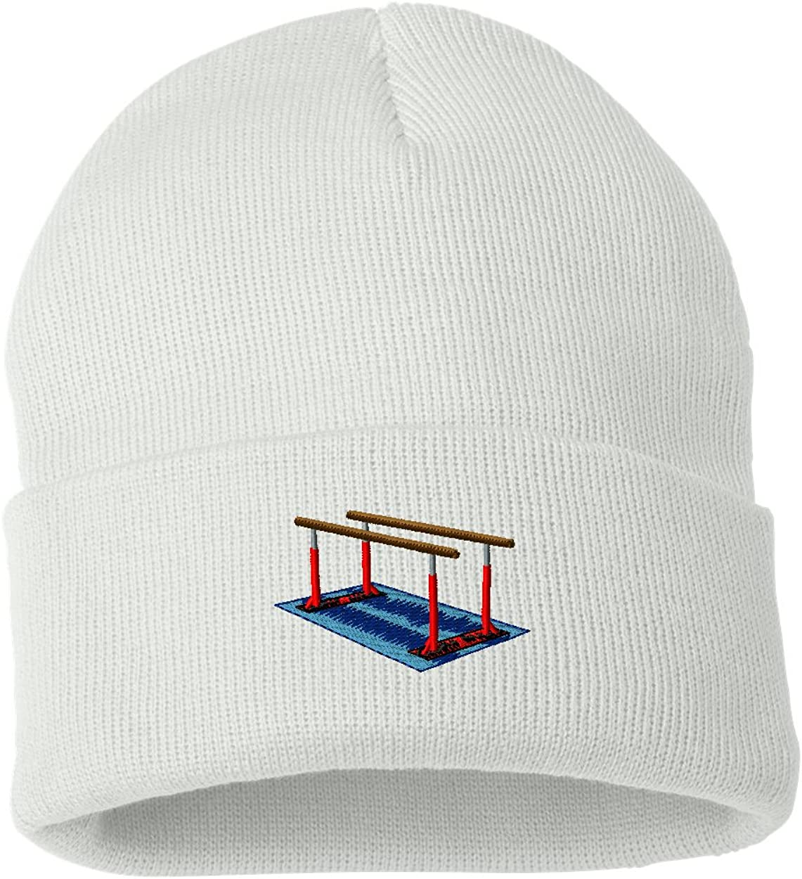 Parallel Bars/  Custom Personalized Embroidery Embroidered Beanie