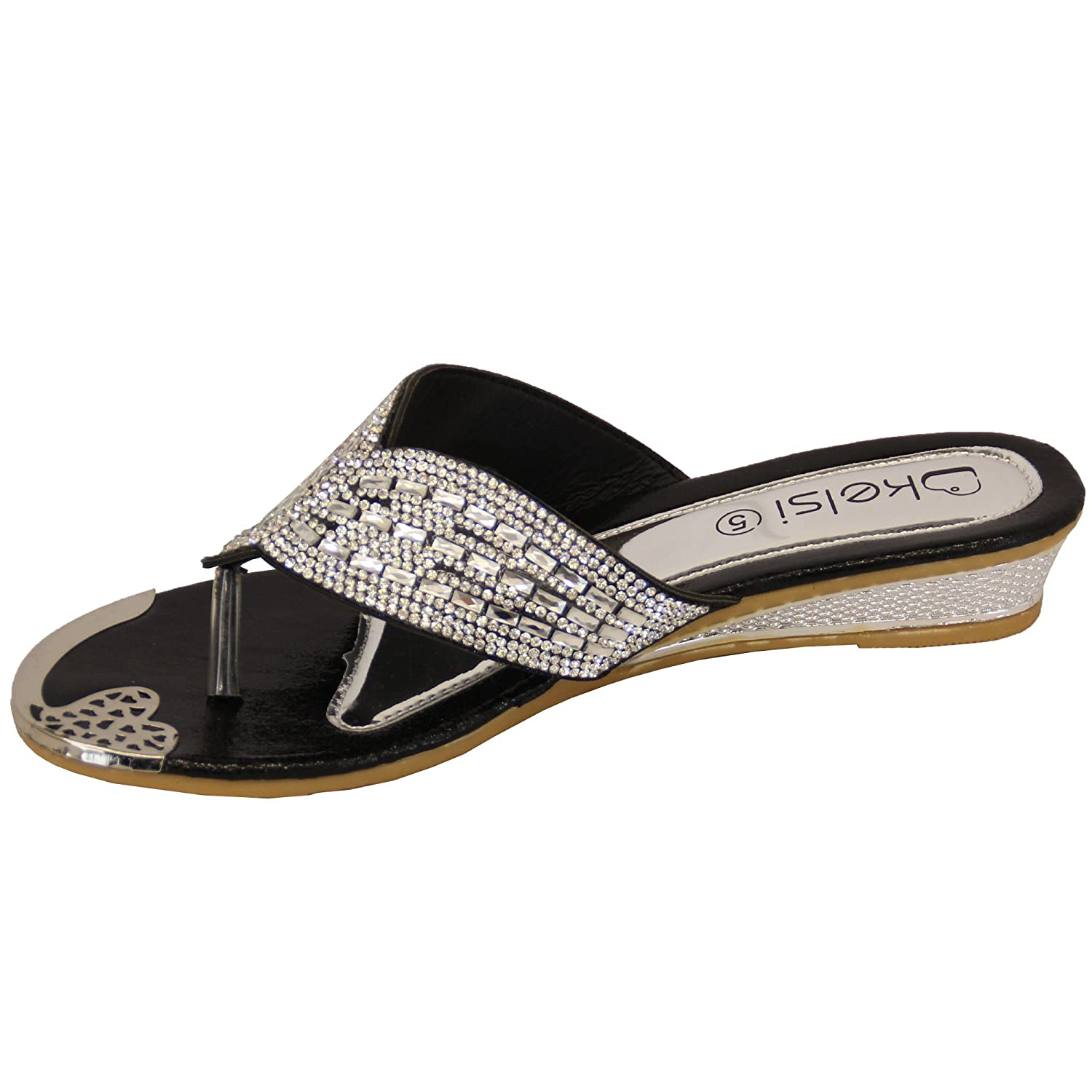 42c99b39ba08 Ladies  Kelsi Sandals 6838 Black UK 3  Amazon.co.uk  Shoes   Bags