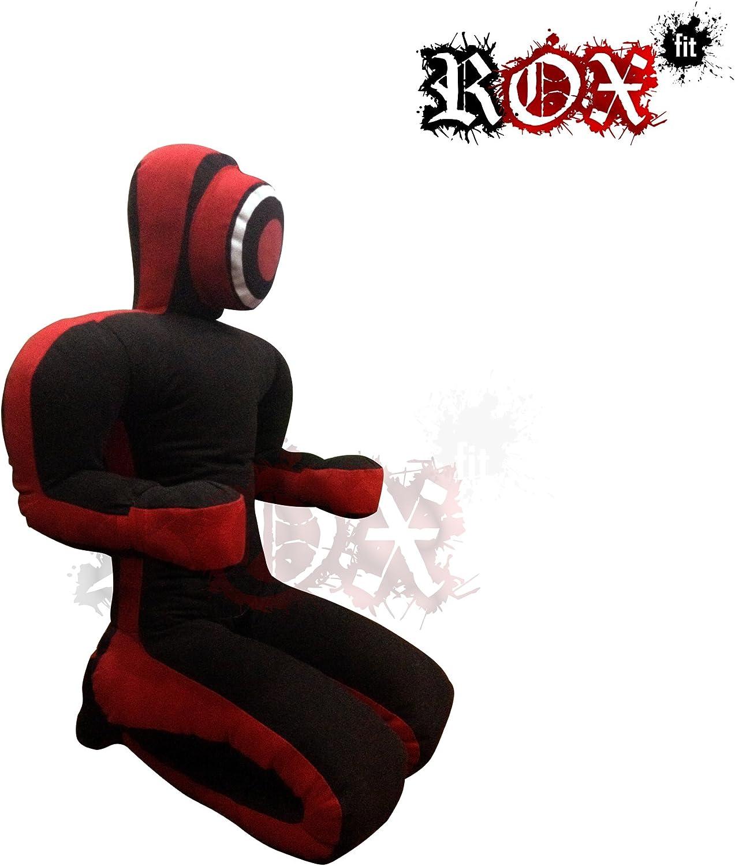 negro y rojo Cerradura para chupete de yudo realista con brazo y cerradura de agarre para chupete posici/ón sentada RoxFit manos delanteras