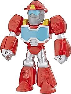 Playskool Heroes Mega Mighties Transformers Rescue Bots Academy Optimus Prime Figura de 10 Pulgadas, Juguetes coleccionables para niños a Partir de 3 años