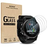 (Pack of 4) Tempered Glass Screen Protector for Garmin Fenix 5S , Akwox [0.3mm 2.5D High Definition 9H] Premium Clear Screen Protective Film for Garmin Fenix 5S