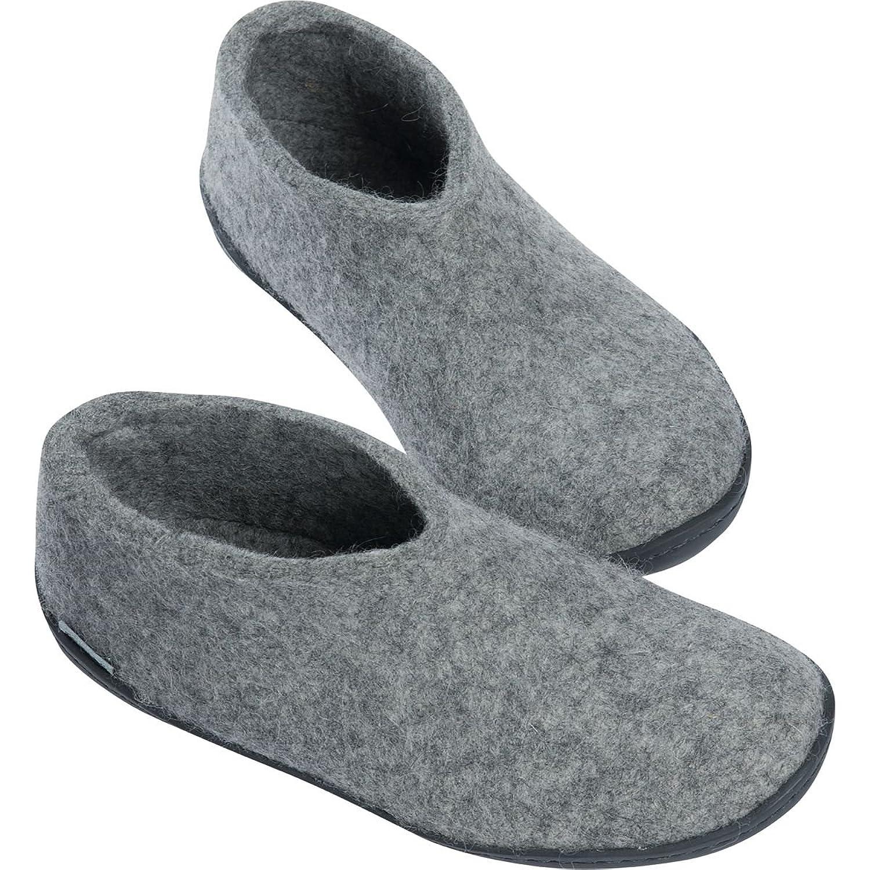 Glerups Rubber Soles Slipper Grey Shoe, 42.0