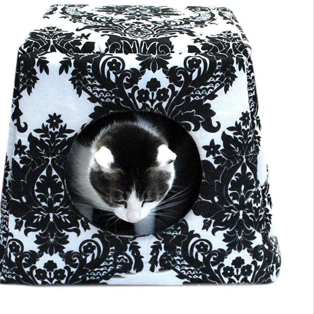 Black H.ZHOU Dogs and Cats Bed Liners & Mats Pet Nest Cat Nest Dog Nest Cat Bed Dog Bed (color   BLACK)