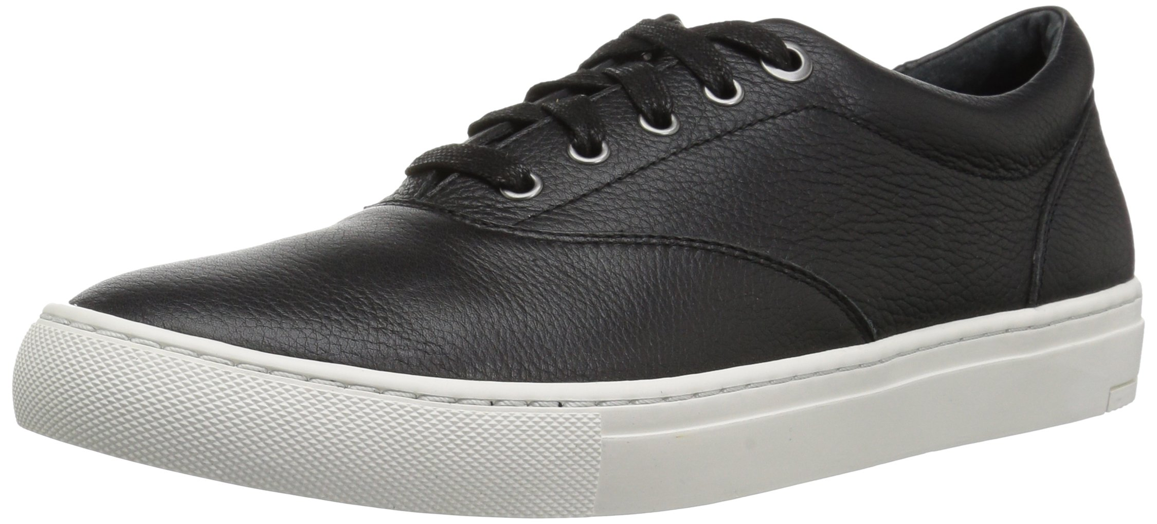 206 Collective Men's Olympic Casual Lace-up Sneaker, Black Leather, 11.5 D US